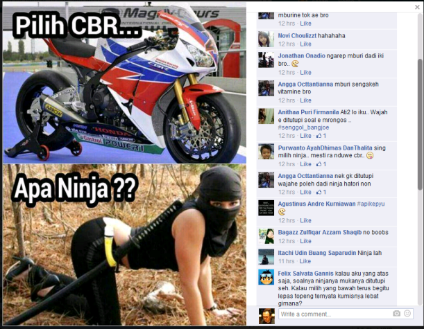 cbr atau ninja